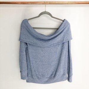 Nordstrom MAKE + MODEL Blue Bardot Sweater
